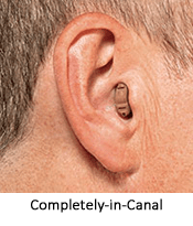 CIC hearing aid at Cumberland Hearing Aid Center
